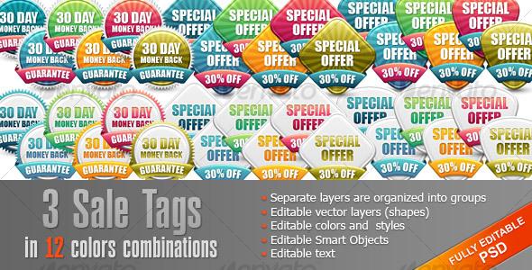 GraphicRiver Set Sale Tags Badges 108036