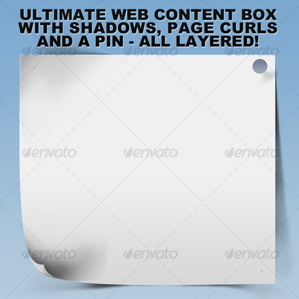 GraphicRiver Ultimate Web Content Box w Shadows and Curls 110010