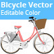 Bicycle Vector Editable Colors - GraphicRiver Item for Sale