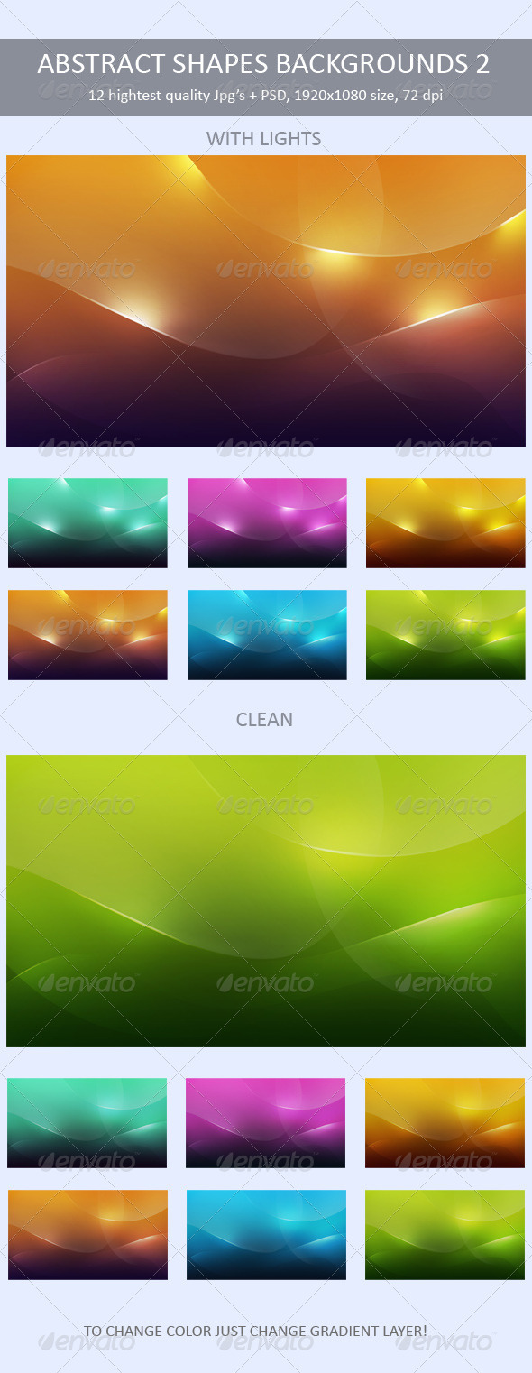 GraphicRiver Abstract Shapes Backgrounds 2 319914