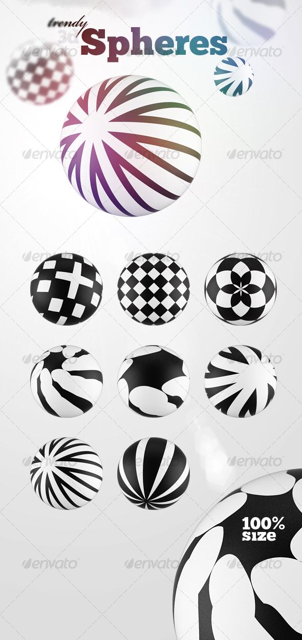 GraphicRiver 8 Futuristic 3D Spheres 110071