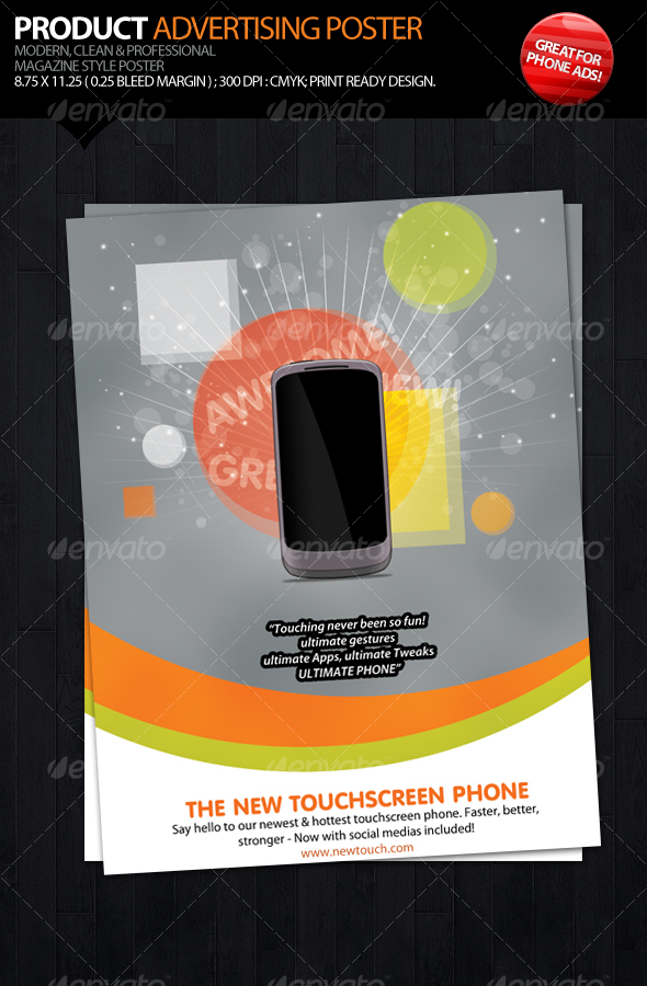 GraphicRiver Product Advertising Poster 110093