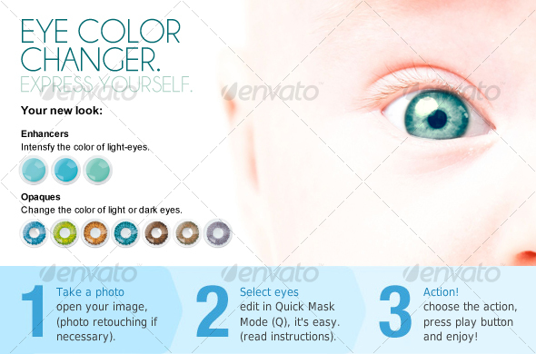 GraphicRiver Eye color changer PS ACTION 110118