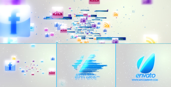 After Effects Project - VideoHive Glassy Corporate Social Media Icons 3094116