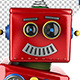 Little robot with party sign - GraphicRiver Item for Sale