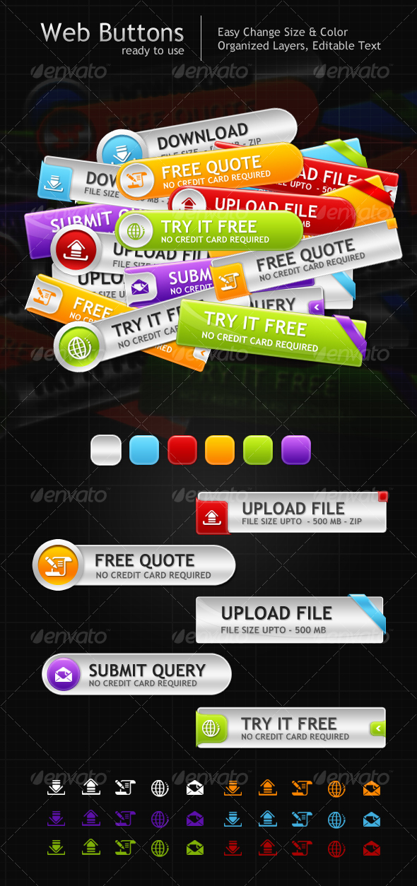 GraphicRiver Web Buttons 102556
