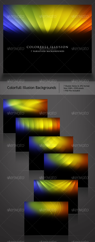 GraphicRiver Colorful Illusion Backgrounds 109702