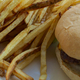 French Fried Potatoes and a Cheeseburger - PhotoDune Item for Sale