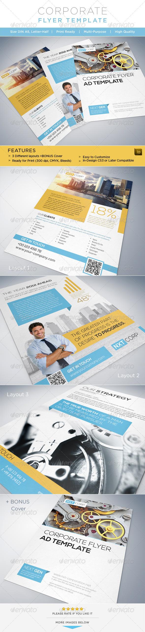 GraphicRiver Corporate Flyer AD Template 3114338