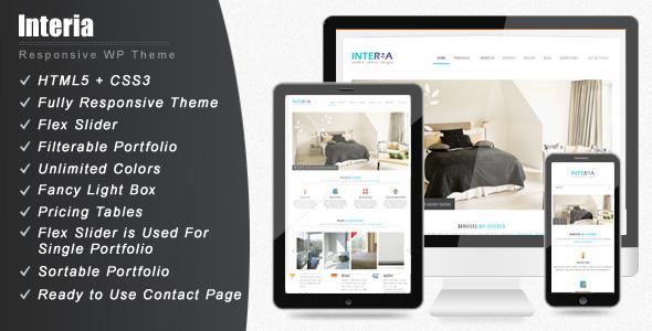 ThemeForest Interia Responsive WordPress CMS Theme WordPress Corporate Business 3114354