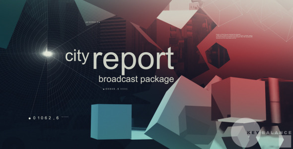 VideoHive City Report Broadcast Package 3084673