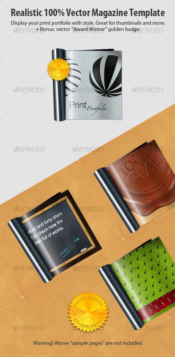GraphicRiver Realistic 100% Vector Magazine 110348