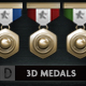 3D ACHIEVEMENT MEDALS AND ICONS (CUSTOMIZABLE) - GraphicRiver Item for Sale