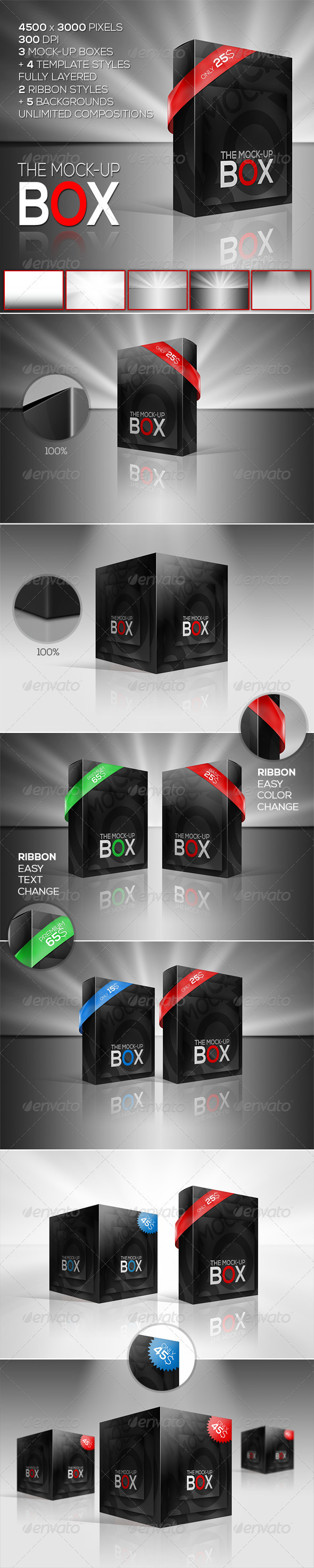 GraphicRiver The Mock-Up Box 7 Photorealistic Styles 3117912