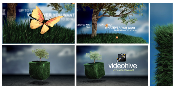 VideoHive Cubic Grass field Logo Reveal 3118763