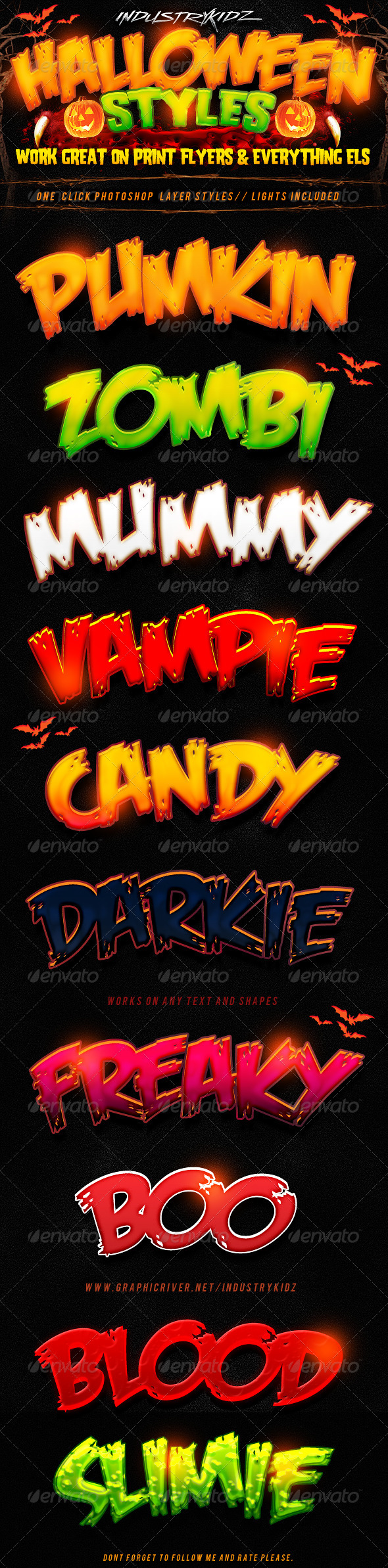 GraphicRiver Halloween Photoshop Layer Styles 3122541