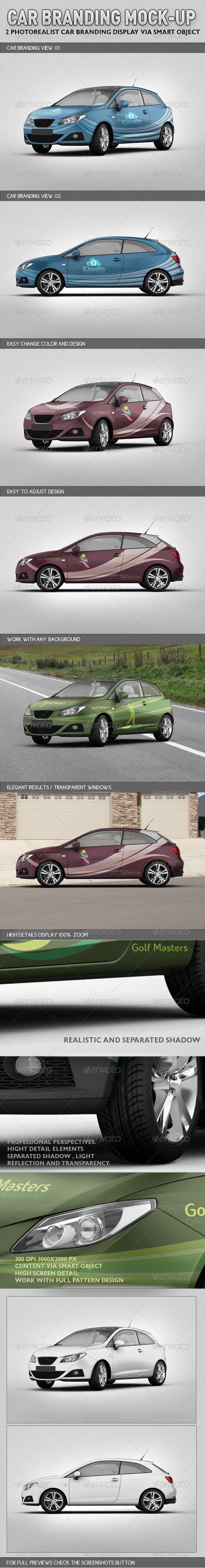 GraphicRiver Car Branding Mock-up 3125312