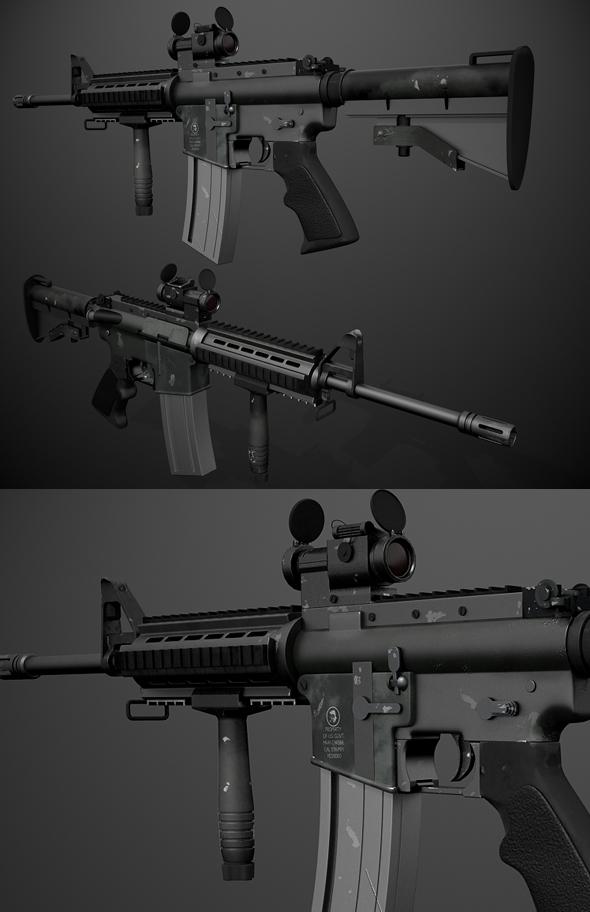 3DOcean M4 Carabine 110626