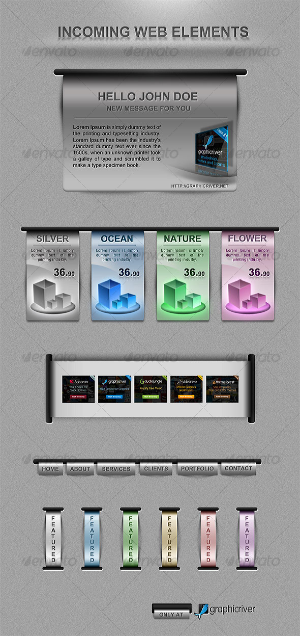 GraphicRiver Incoming Pack Web Elements 110868