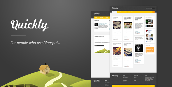 ThemeForest Quickly Responsive Blogger Template Blogging Blogger 3136201