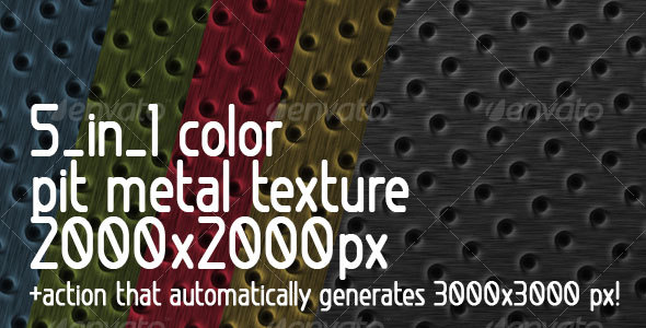 GraphicRiver 5 in 1 color Pit Metal Texture & Action 109540