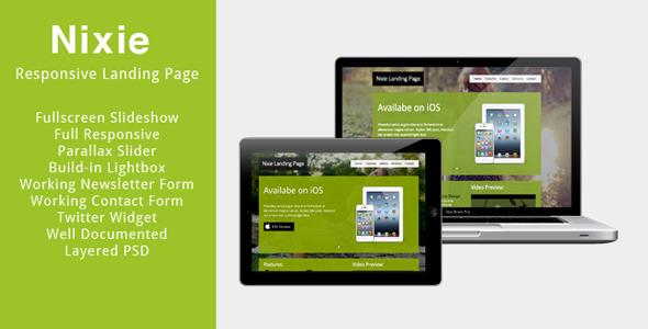 ThemeForest - Nixie - Responsive Landing Page