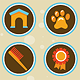 25 Vector Pet Icons in Retro Style - GraphicRiver Item for Sale