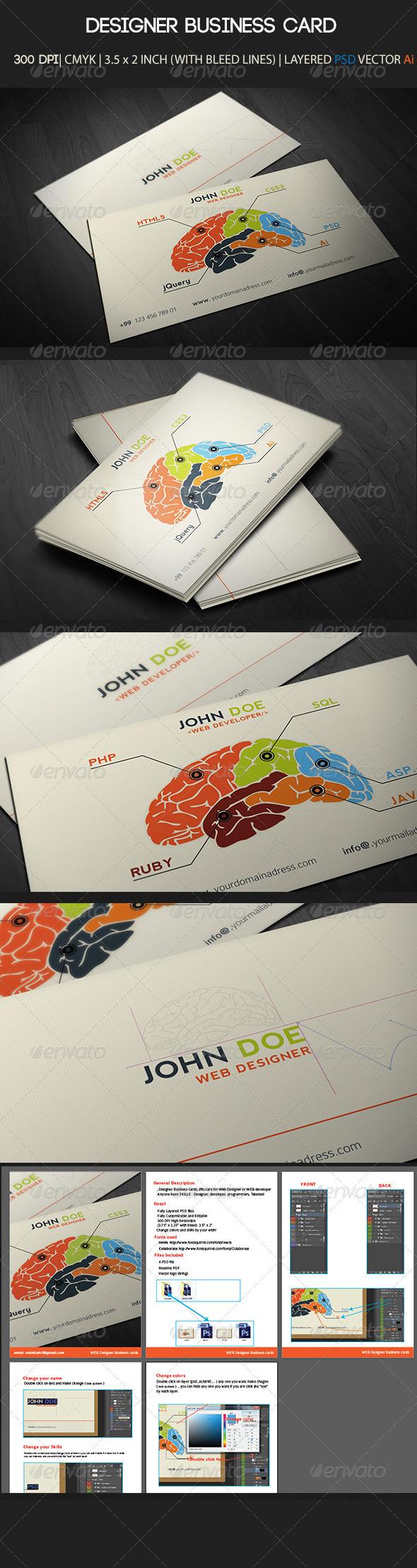 GraphicRiver Designer Business Card 3146456