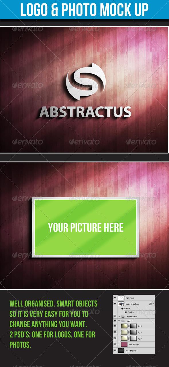 GraphicRiver Logo & Photo Mock-up 3121044