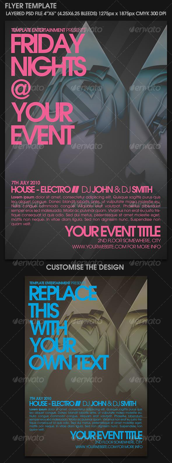 GraphicRiver Contemporary Flyer Template 111306
