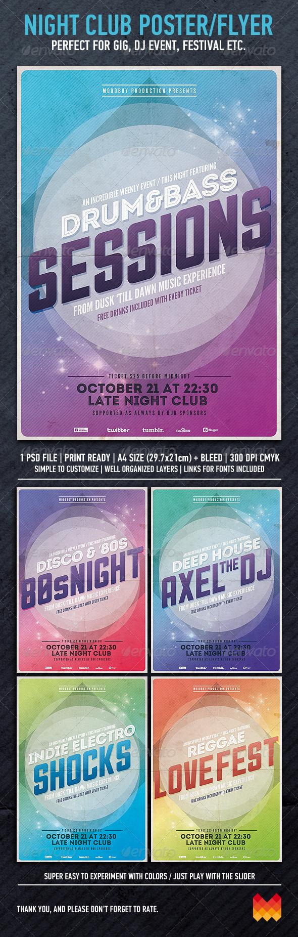 GraphicRiver Night Club Event Flyer 3149860