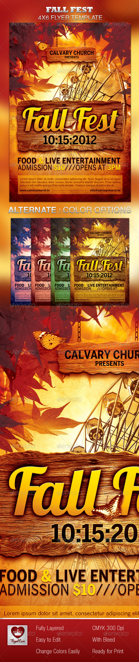 GraphicRiver Fall Fest Church Flyer Template 3128233
