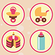25 Vector Childish Icons in Retro Style - GraphicRiver Item for Sale