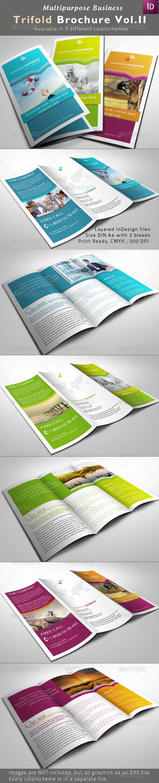 GraphicRiver Multipurpose Trifold Brochures Vol II 2288116