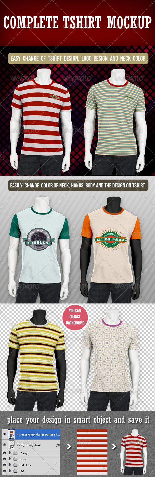 GraphicRiver Complete T-shirt Mockup 3153063