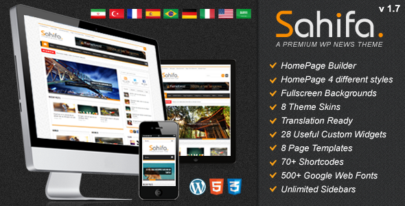 Sahifa - Responsive WordPress News,Magazine,Blog - ThemeForest Item for Sale