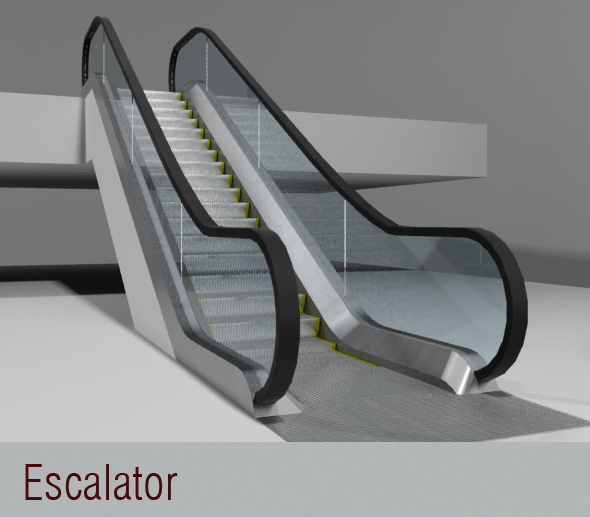 3DOcean Escalator 3D Models -  Buildings and Architecture  Other 111429
