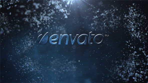VideoHive Water logo intro 3139991