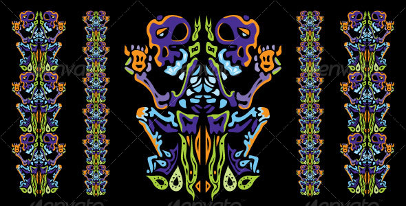 GraphicRiver Psychedelic ornament element 111146