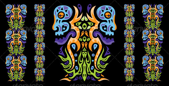 GraphicRiver Psychedelic ornament element 111462