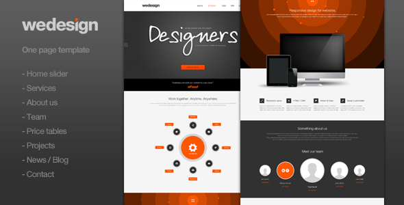 PSD Templates – We Design – One page portfolio | ThemeForest