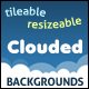 Tileable and Resizeable Clouded Backgrounds - GraphicRiver Item for Sale