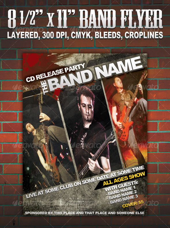 GraphicRiver Band Flyer poster 8 1 2 111569