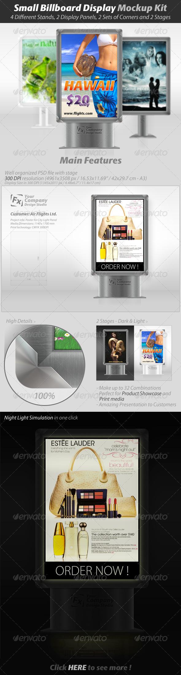 GraphicRiver Small Billboard Display Mockup Kit 325300