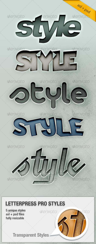 GraphicRiver Letterpress Text Pro Styles 111612