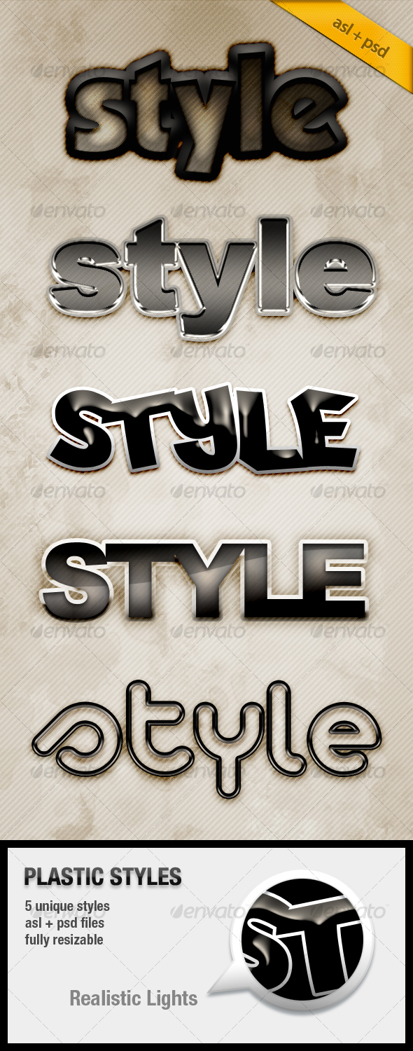 GraphicRiver Plastic Text Styles 111616
