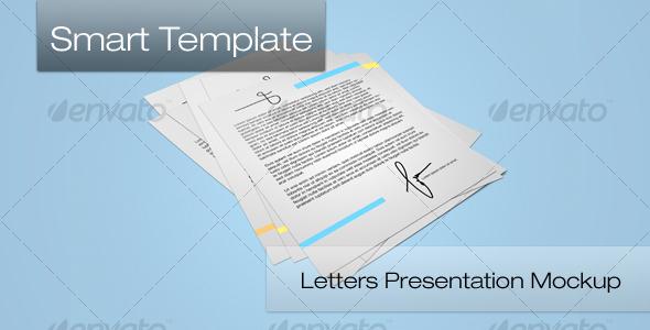 GraphicRiver Letters Presentation Mockup 111627