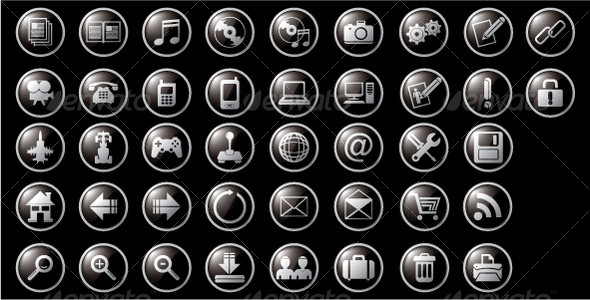 GraphicRiver Web and Multimedia Icons 111684