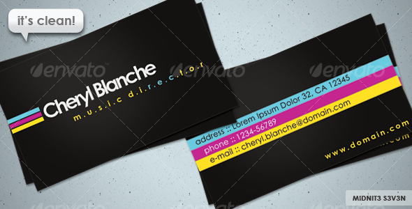 GraphicRiver Clean CMYK Business Card 111727