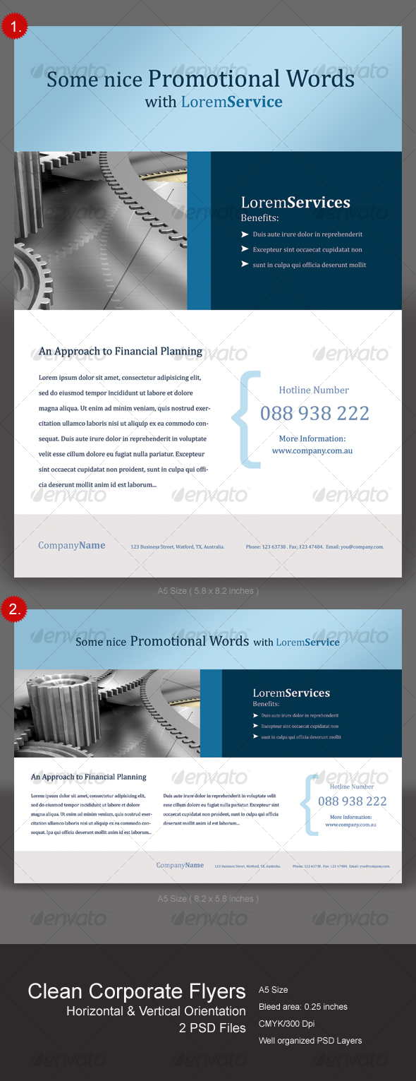 GraphicRiver Clean Corporate Flyers 111800